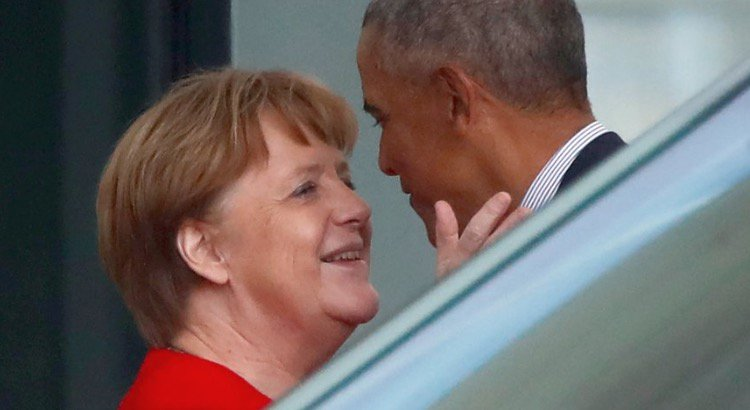 Shadow Government Obama Meets Merkel in Berlin for