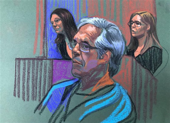 Jeffrey Epstein erscheint am 15. Juli 2019 bei einer Gerichtsverhandlung.