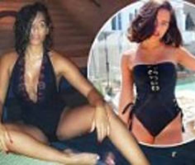 Georgia May Foote Shows Off Her Busty Assets In Plunging Lace Swimsuit As She Enjoys Solo Spa Day