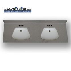 ada double bowl vanity sink top 5 8 deck standard granite colors
