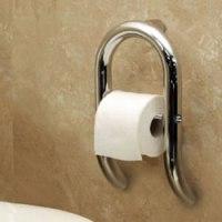 HealthCraft Invisia Wall Toilet Roll Holder Grab Bar INV-WTRH
