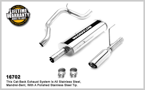 Dodge Nitro Cat Back Exhaust System 2007-2011