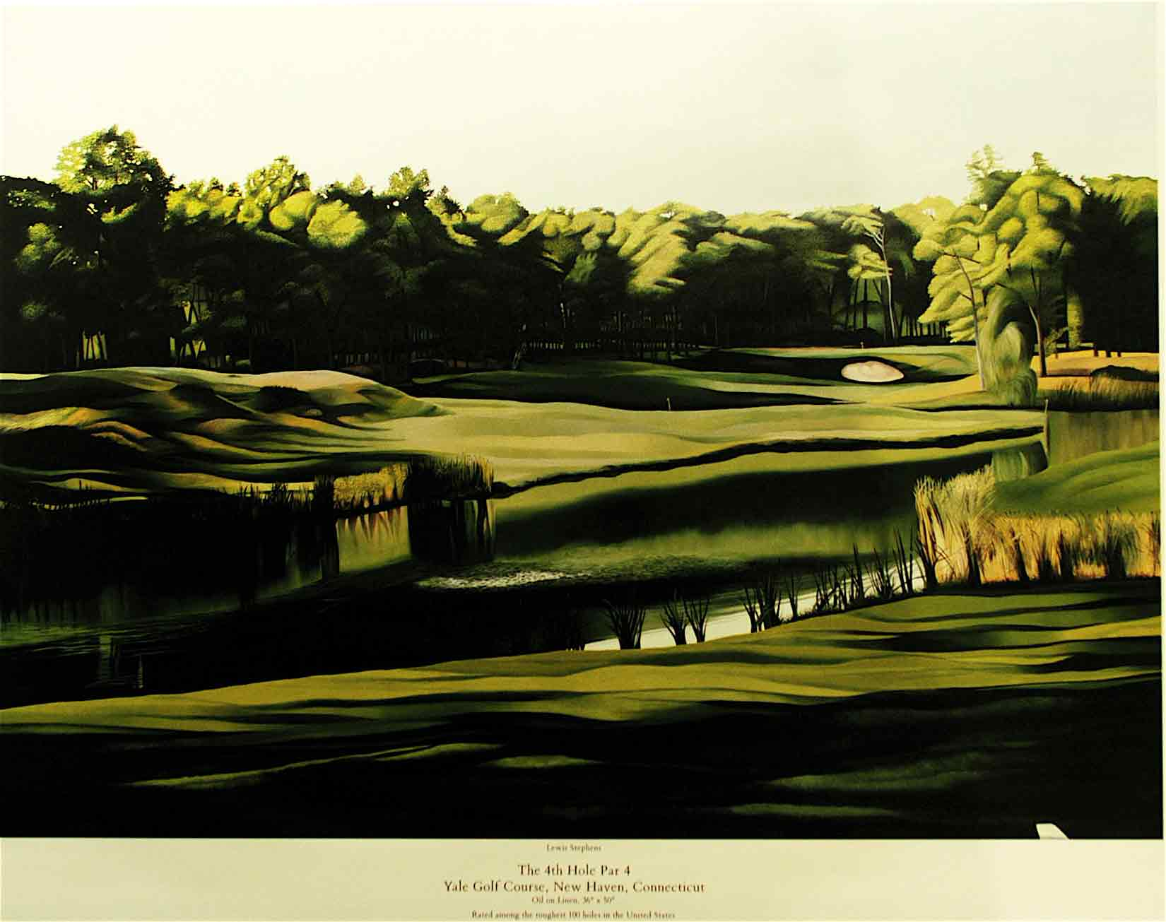 Yale Golf Course 4th Hole Road  GolfARTCom Online Store