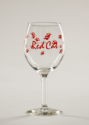Red Cat Wine Glass Hazlitt 1852 Vineyards Online Store