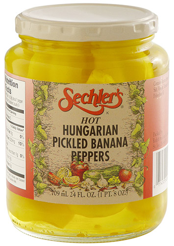 Hot Hungarian Banana Peppers Sechlers Fine Pickles Online Store
