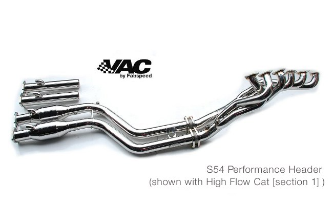 Fabspeed High Flow Cats (BMW E46 M3) Section 1 Stainless Steel