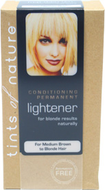 Natural Permanent Hair Lightener By Tints Of Nature For