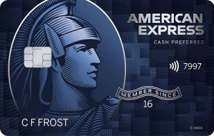 Blue Cash Preferred Card from American Express gives 6% back on groceries and streaming TV.
