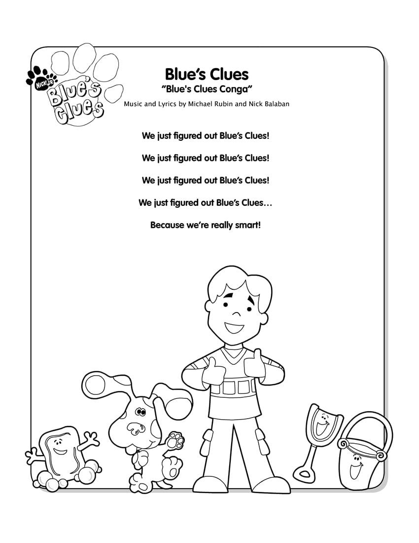 Blue's Clues Song : blue's, clues, Blue's, Clues, Lyrics