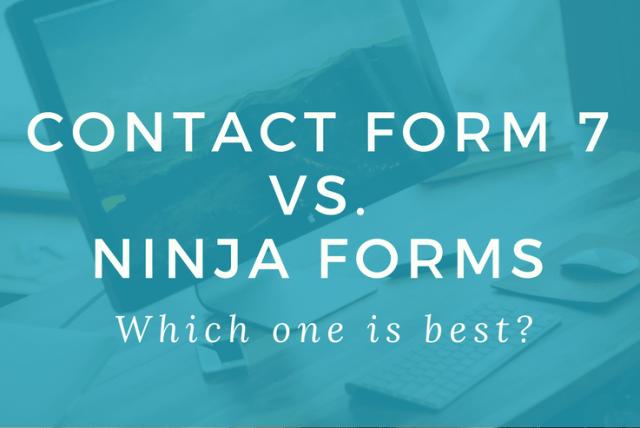 Formulário de contato 7 vs Ninja Forms