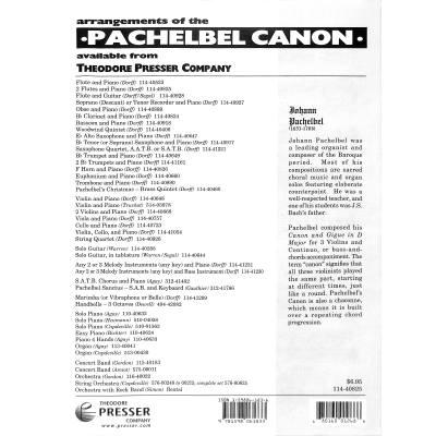 Kanon D dur Pachelbel Johann PRESSER114 40825