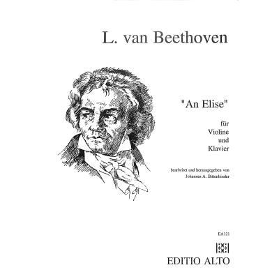 An Elise Beethoven Ludwig van ALTO121