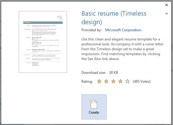 A good resume can land you that job interview, so you want to stand out. How To Create A Professional Resume For Free With Word 2013