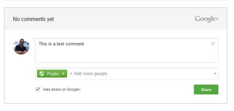 Google  comments