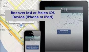 Track lost iphone ipad