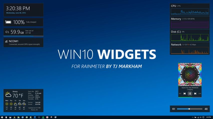 Виджеты в Windows 10