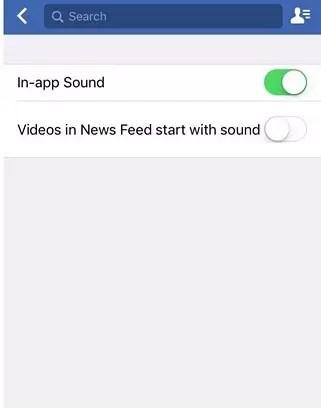 disable facebook video sound auto play