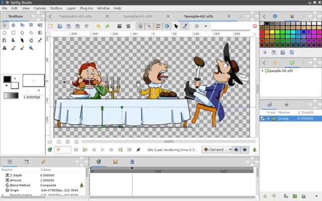 synfig - softwares para criar filmes e animações