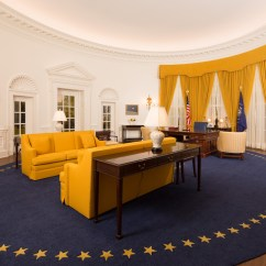 Oval Office Chair Target Slipper Covers President Nixon S Now On Display At Library