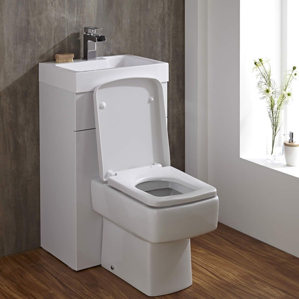 Vierkant Toilet met ingebouwde wastafel  50cm x 86cm x 875cm