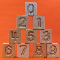Handcrafted Wooden Number Cuboids (Natural) by Hellion Toys