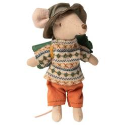 Hiker Mouse, Big Brother by Maileg