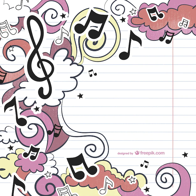 Musical Drawing Nohat Free For Designer