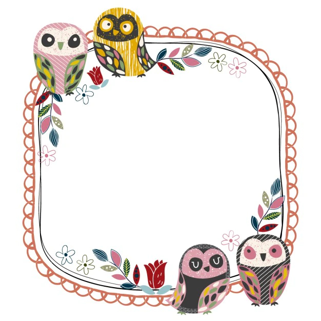 frame with owls nohat