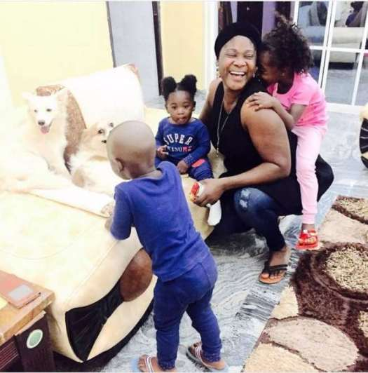 Image result for Mercy Johnson is busy with her kids