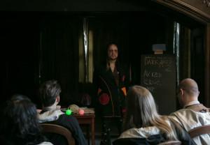 Professor Bombastus Bane teaching D.A.D.A. 2 (Play, Christina Molbech)