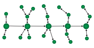 4. The Vector with Side Branches - One main direction, with bi-directional subplots.
