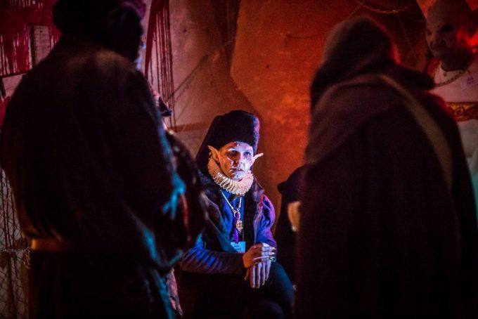 The Nosferatu confer. Photo by Przemysław Jendroska and Nadina Wiórkiewicz for Dziobak Larp Studios.