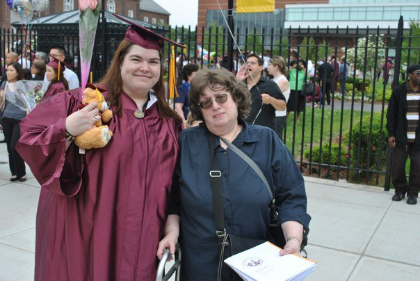 Shoshana and Esther Kessock, CUNY Brooklyn College graduation 2010.