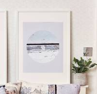 *new* coastal eclipse inspired wall art print by ruth ...