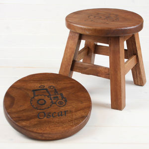wooden kitchen stools outdoor accessories notonthehighstreet com personalised stool for children
