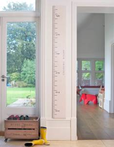 Wooden ruler growth chart in white grey and putty also by lovestruck rh notonthehighstreet