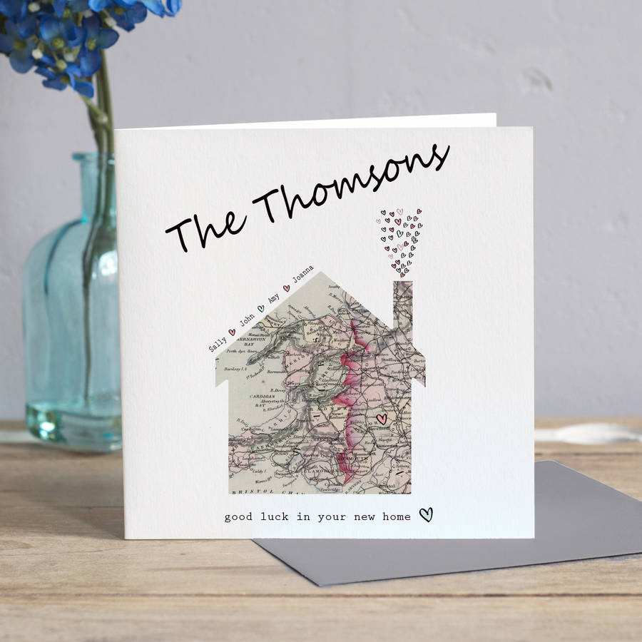 New Home Map Card By Lisa Marie Designs