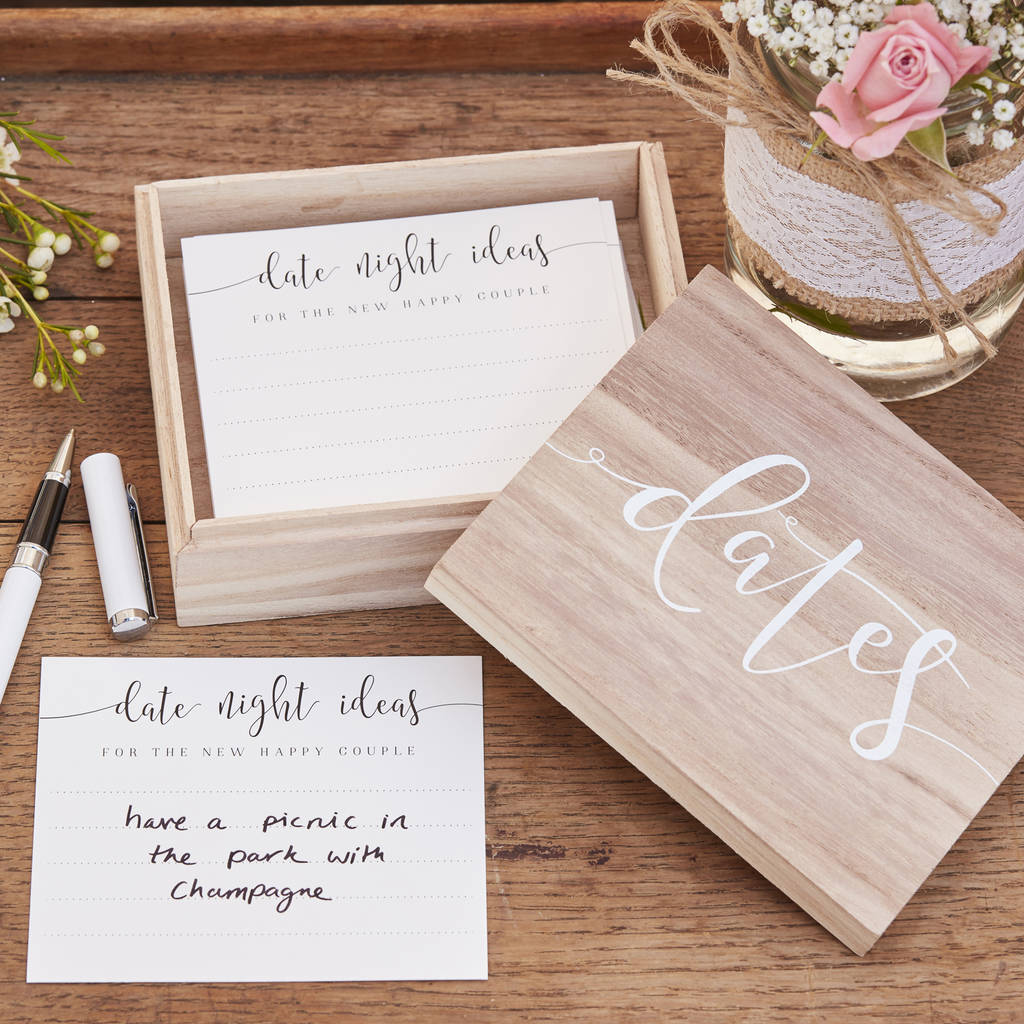 date night ideas alternative wedding guest book by the