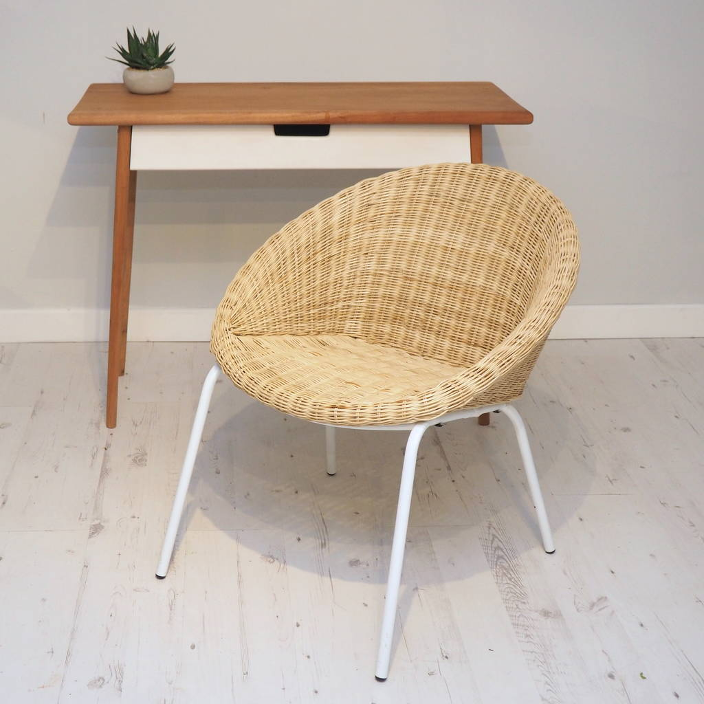 metal tub chair modern orange dining chairs uk wicker with white legs by za homes