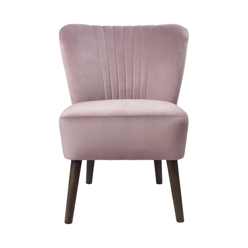 bedroom chair pink velvet rocker desk dusky by ella james notonthehighstreet com