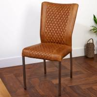vintage leather or harris tweed carver or dining chair by ...