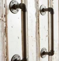 industrial steel pipe door handles by brush64 ...