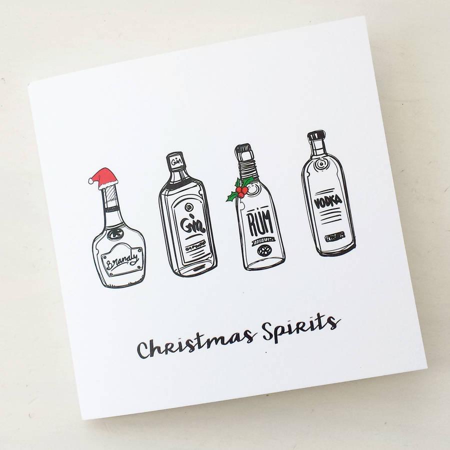 Christmas Spirits Funny Christmas Card By Of Life