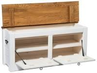 hallway storage bench shoe cabinet white 120cm wide by ...
