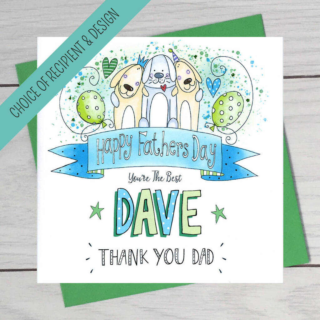 Thank You Dad Fathers Day Card By Claire Sowden Design