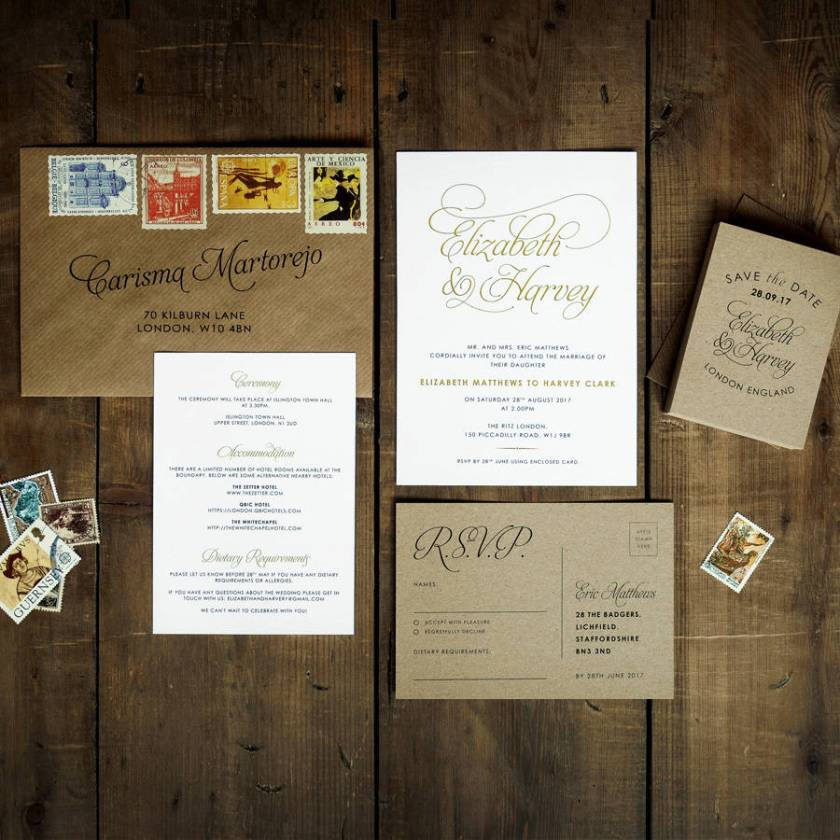 Baroque Wedding Invitation Set