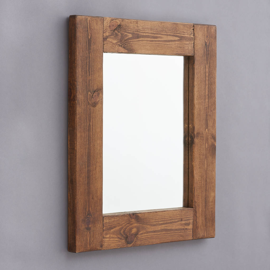 chunky old wood framed mirrors by horsfall & wright