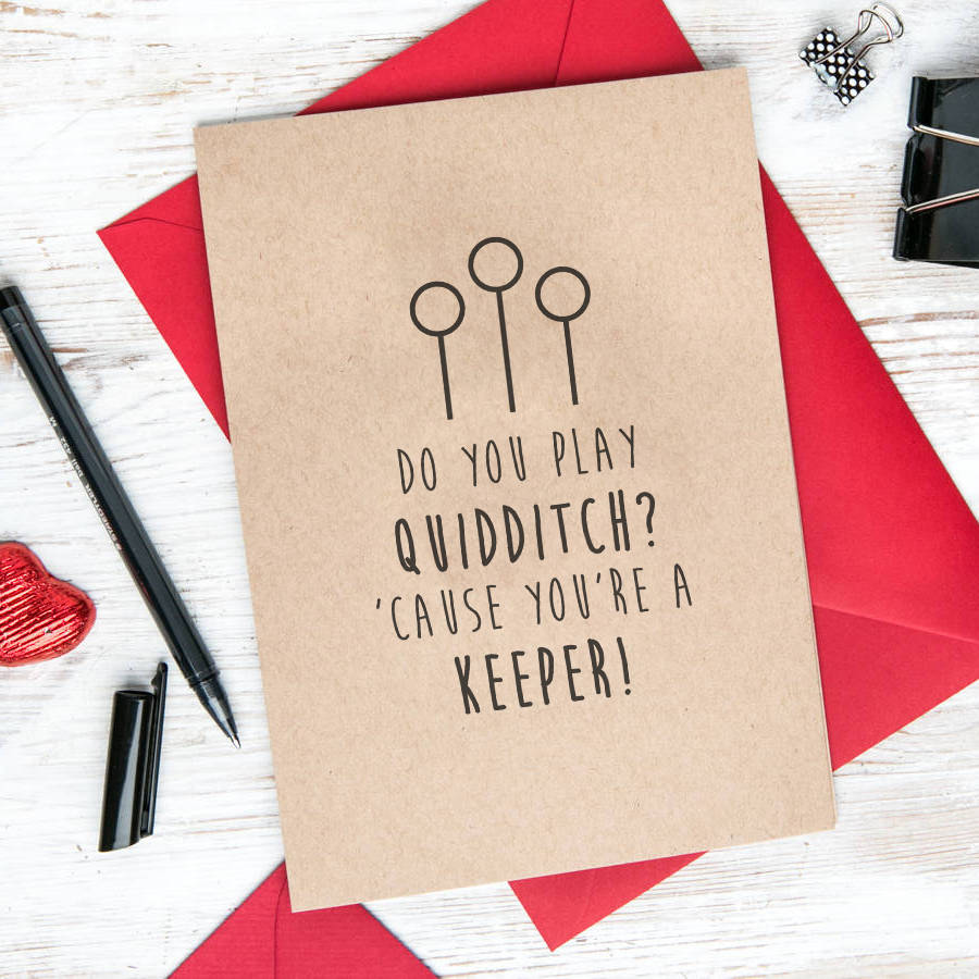 Harry Potter Quidditch Quote Greetings Card By Dust And