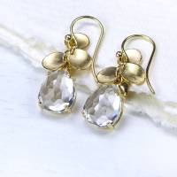 white topaz petal earrings in 18ct gold by lilia nash ...
