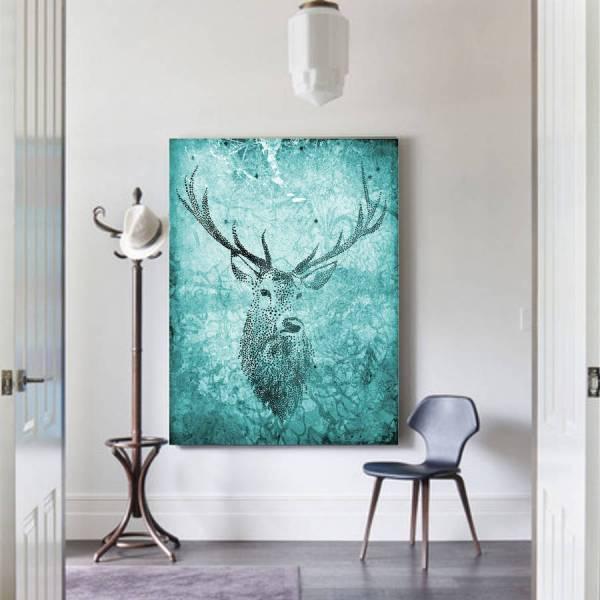 Deer Hunter Canvas Art Palm Valley